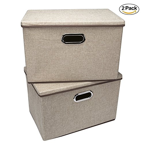 storage bins wecye large foldable storage containers with removable lid and handles storage box. Black Bedroom Furniture Sets. Home Design Ideas