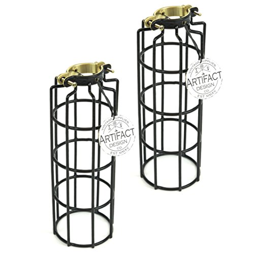soofoo 4 pack black metal lamp guard  adjustable cage openings to different styles industrial