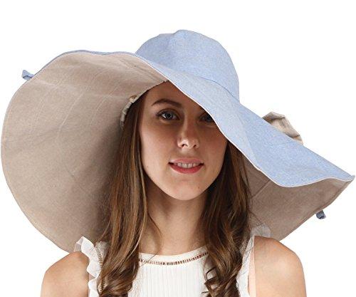 b4e1f95c77e Maitose Trade  Women s UV Sun Protection Beach Wide Brim Fishing Hat Blue