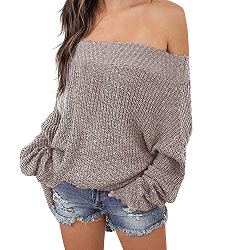 d45e6de32cf69 ... Sleeve Loose Oversized Pullover Sweater Knit Jumper. 2 sexy off  shoulder sweater